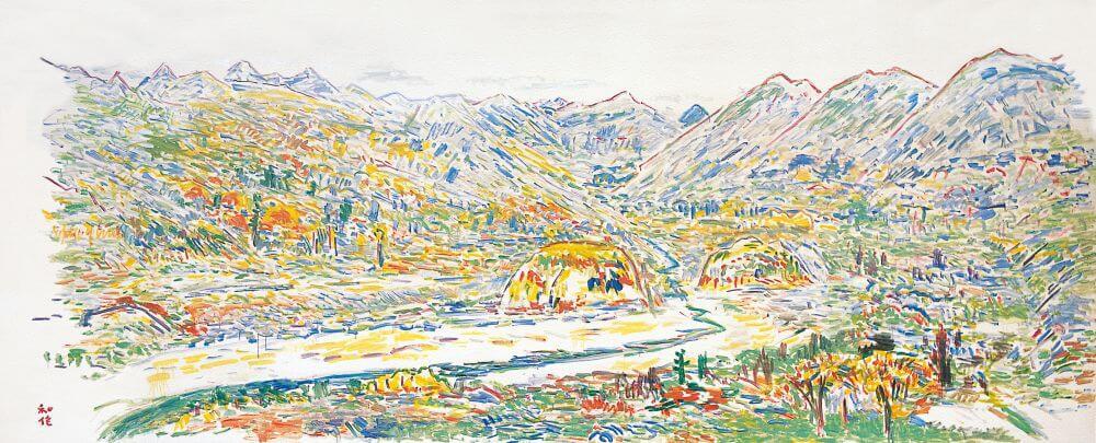 小林 和作「奥飛騨の新穂高温泉附近」